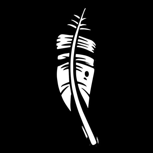 Dark bird feather silhouette