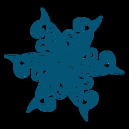 Elemento decorativo floco de neve