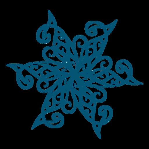 Elemento decorativo de copo de nieve Transparent PNG
