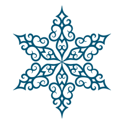 Detailed snowflake element