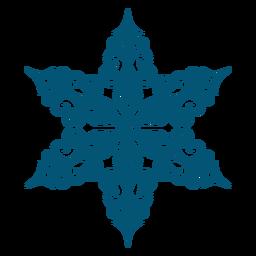 Elemento detallado del copo de nieve