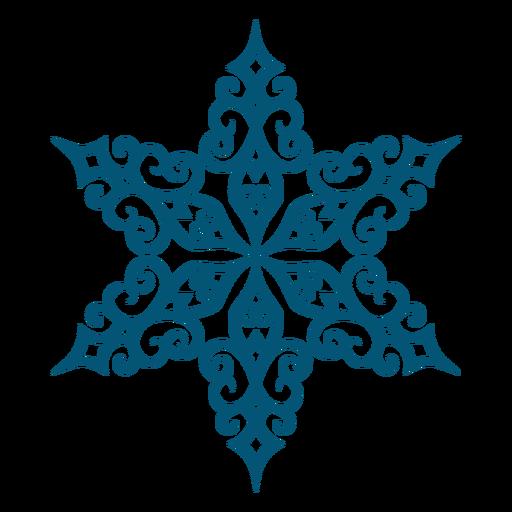 Detailed snowflake element