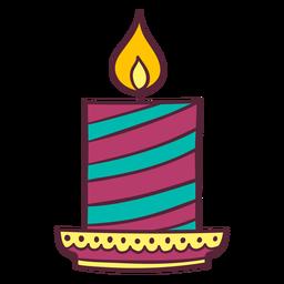 Diwali candle element
