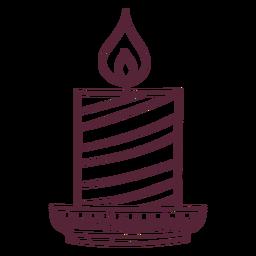 Línea de elemento de vela Diwali