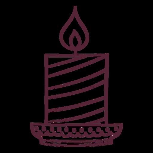 Diwali candle element line