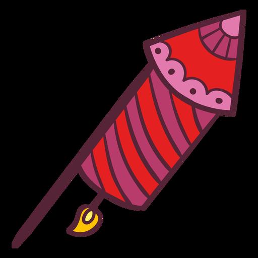 Cohete de fuegos artificiales de Diwali