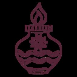 Línea de decoración luminosa Diwali