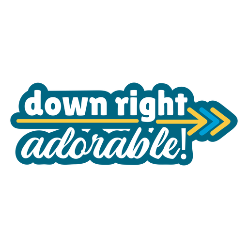 Down right adorable support badge
