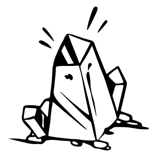 Earth crystal silhouette