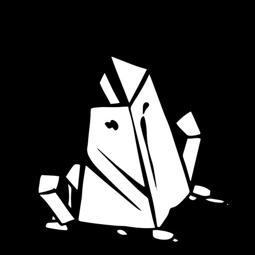 Erdkristall-Silhouette