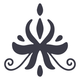 Elegant floral ornament silhouette