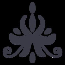 Elegante Blumenornament-Silhouette