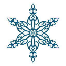 Elegant snowflake element
