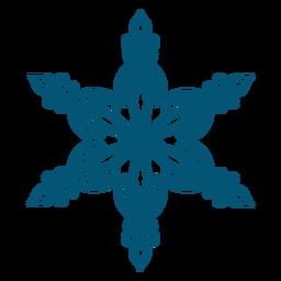 Elemento elegante floco de neve