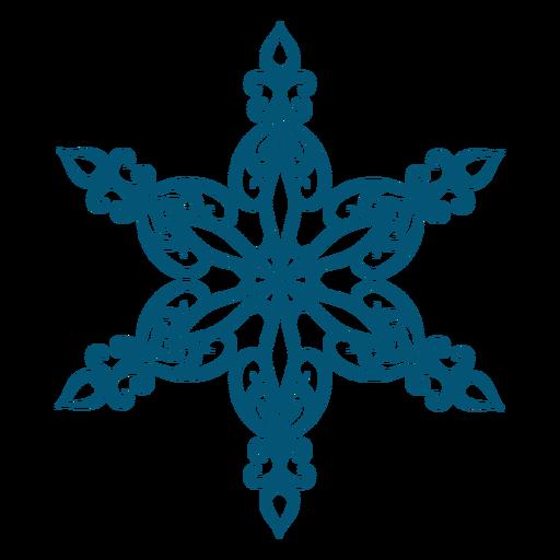 Elegant snowflake element