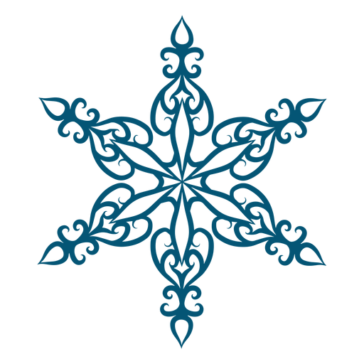 Elegante elemento de copo de nieve