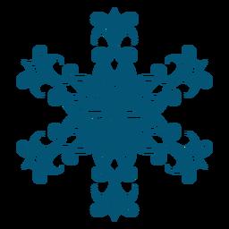 Elemento de floco de neve elegante redemoinho
