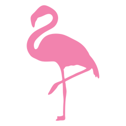 Flamingo on one foot silhouette