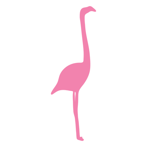 Flamingo side view silhouette