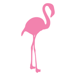 Flamingo standing silhouette