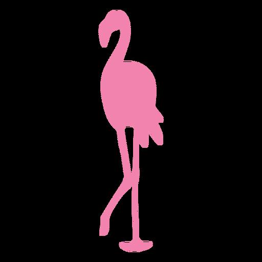 Flamingo caminando silueta animal