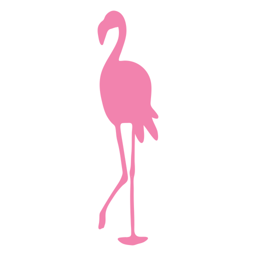 Flamingo walking silhouette animal
