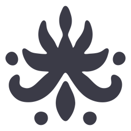 Floral ornament art silhouette