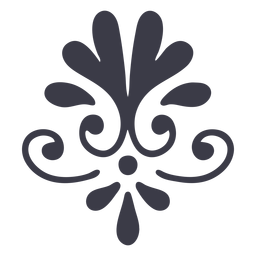 Floral ornament decoration silhouette