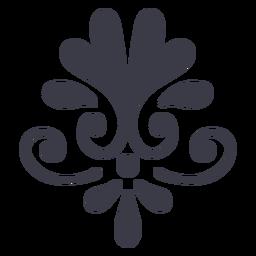 Silueta de decoración de ornamento floral