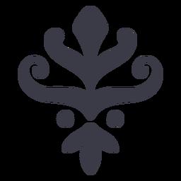 Floral ornament silhouette design