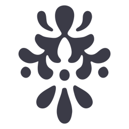Floral ornament detail silhouette