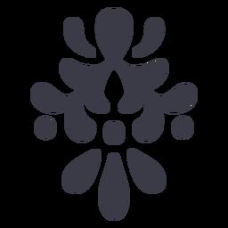 Silueta de detalle de adornos florales