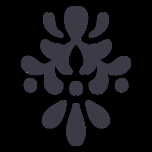 Silueta de detalle de adornos florales Transparent PNG