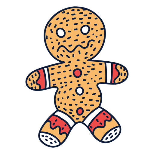 Dibujos animados de galleta de jengibre