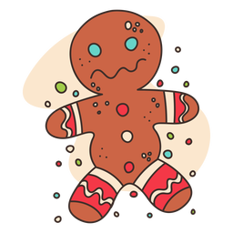 Gingerbread man cartoon