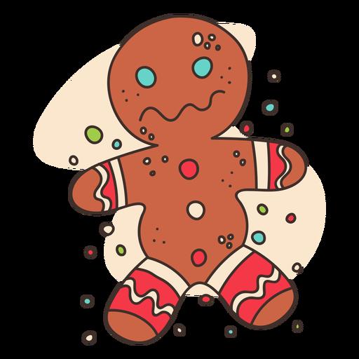 Gingerbread man cartoon Transparent PNG