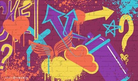 Vector de graffiti grunge