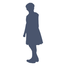 Girl looking back silhouette