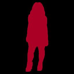 Chica posando silueta roja
