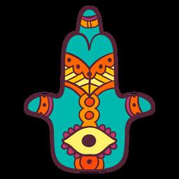 Hamsa indian hand symbol