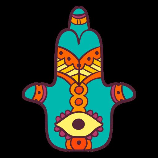 Símbolo de la mano india Hamsa