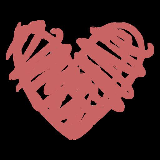 Elemento de pincel de corazón dibujado a mano