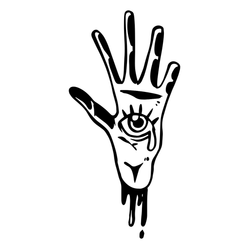 Hand with eye silhouette Transparent PNG
