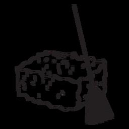 Haystack and broom vinyl