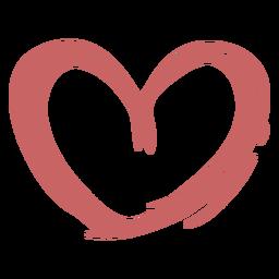 Elemento de pincel de pintura de coração