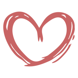 Heart paint brush element