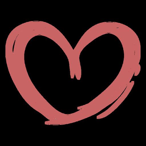 Elemento de pincel de corazón Transparent PNG