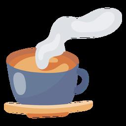 Elemento de taza de café caliente