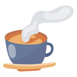 Hot coffee cup element