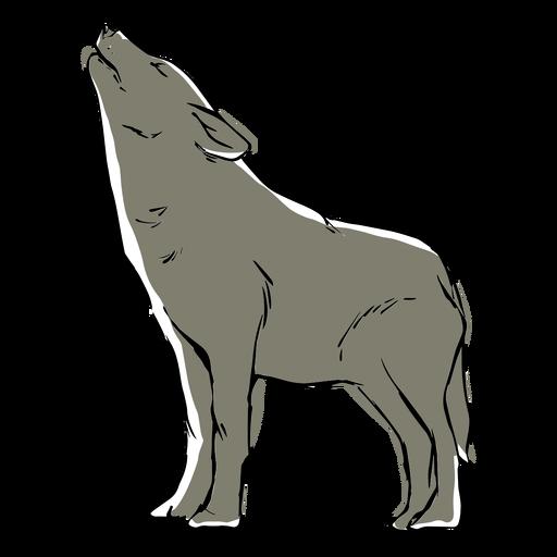 Howling Wolf Sketch Transparent Png Svg Vector File